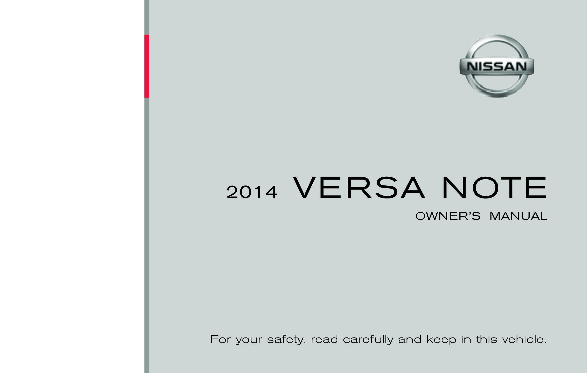 2014 Nissan Versa Note owners manual