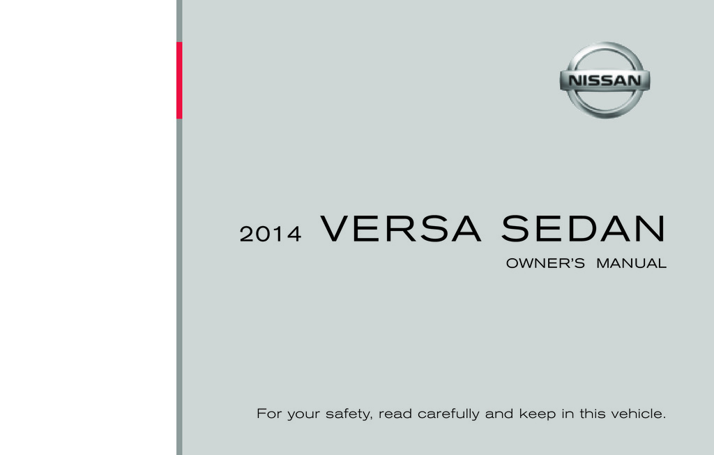 2014 Nissan Versa Sedan owners manual