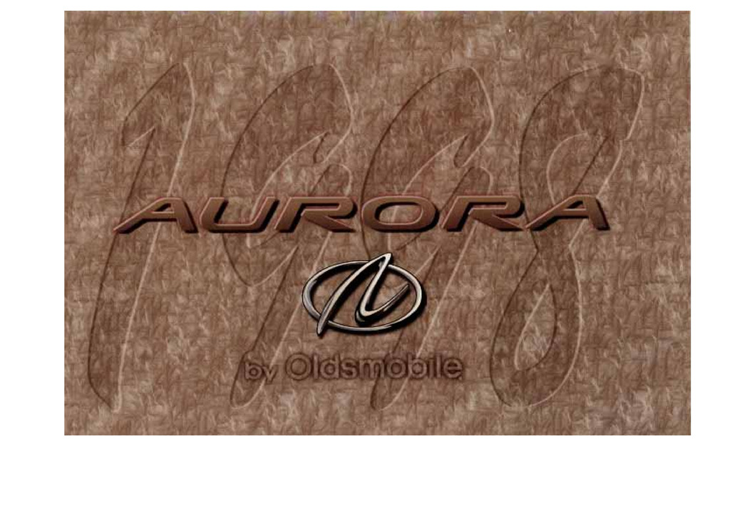 1998 Oldsmobile Aurora owners manual