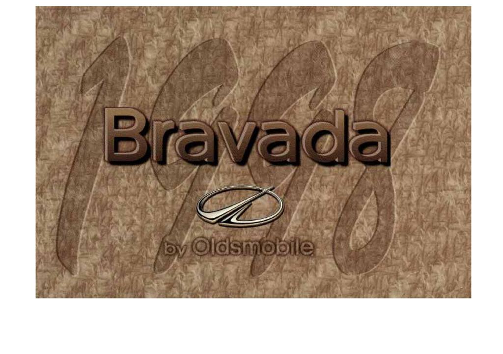 1998 Oldsmobile Bravada owners manual