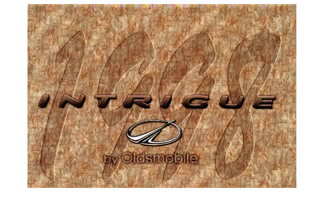 1998 Oldsmobile Intrigue owners manual