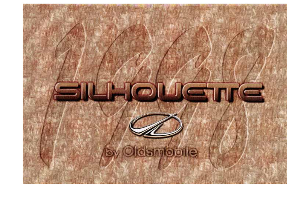 1998 Oldsmobile Silhouette owners manual