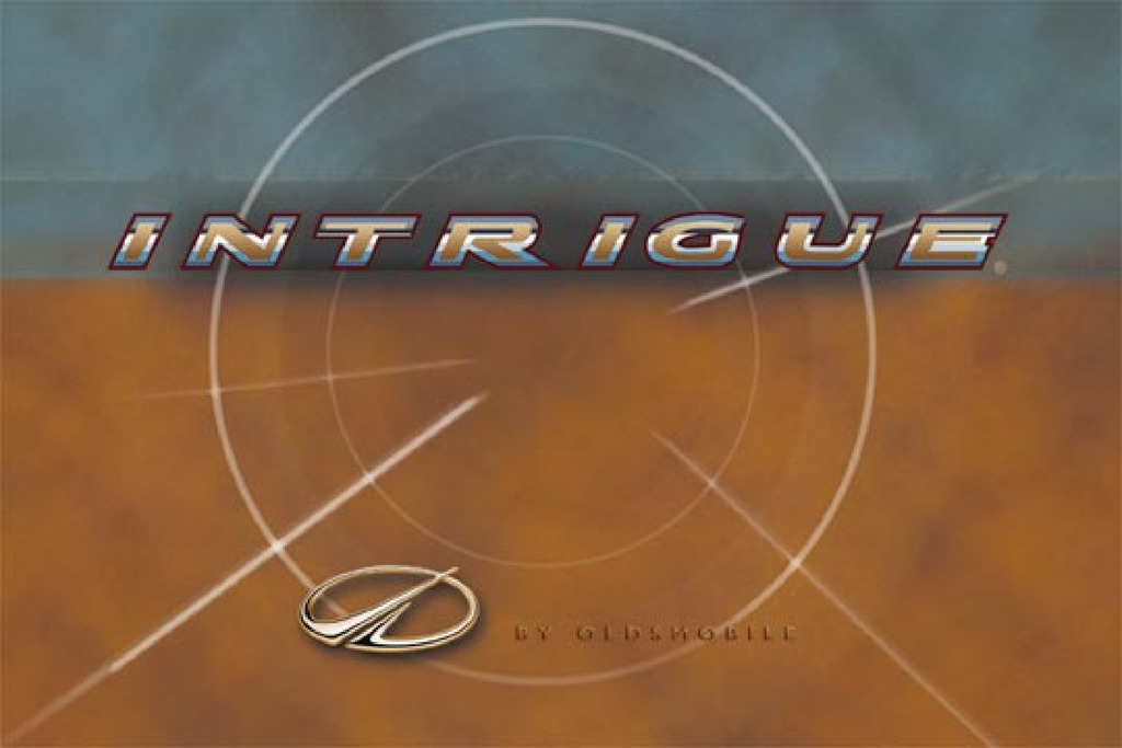 2000 Oldsmobile Intrigue owners manual