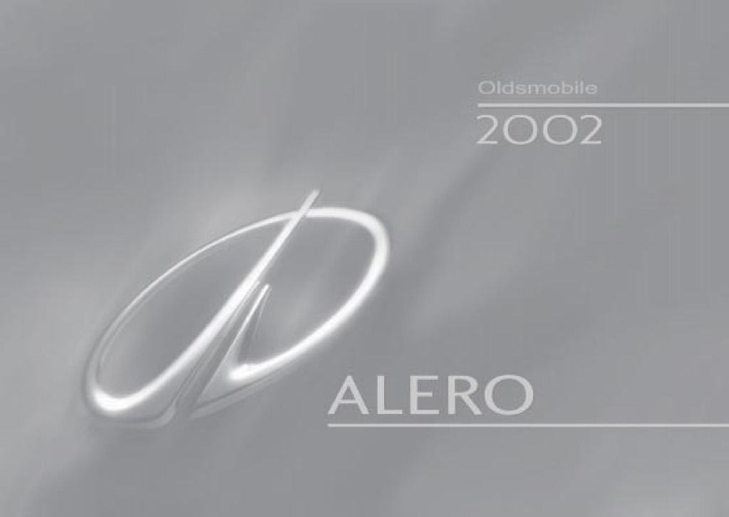 2002 Oldsmobile Alero owners manual