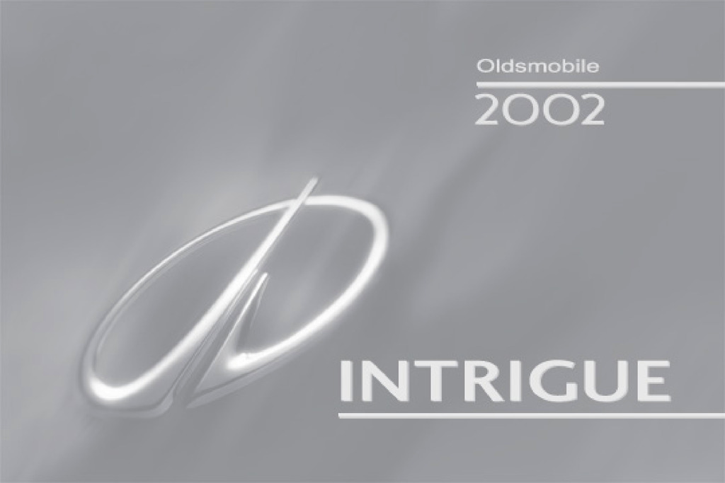 2002 Oldsmobile Intrigue owners manual