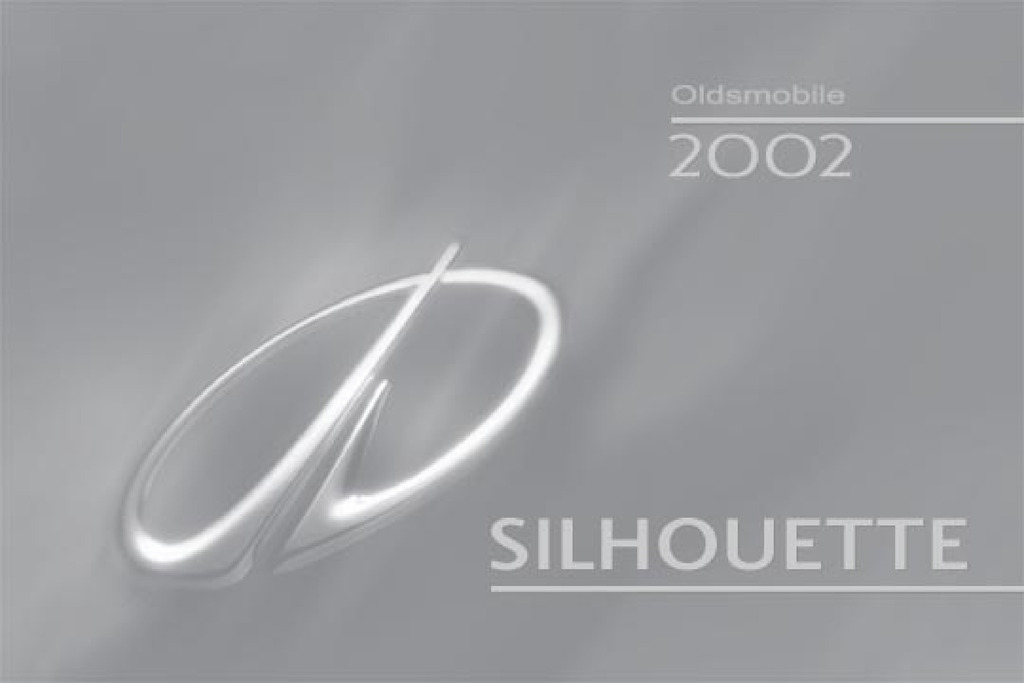 2002 Oldsmobile Silhouette owners manual