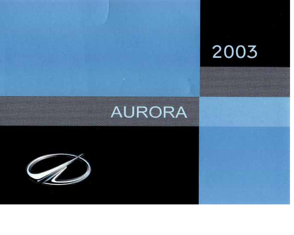 2003 Oldsmobile Aurora owners manual