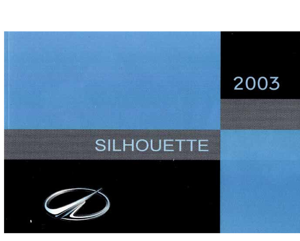 2003 Oldsmobile Silhouette owners manual