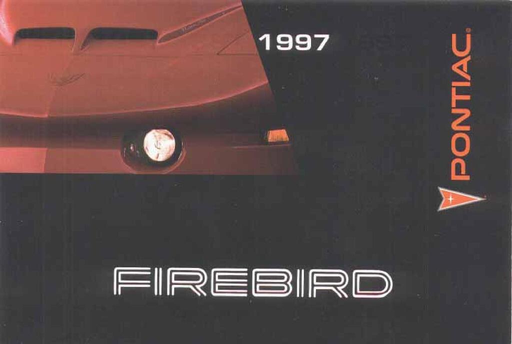 1997 Pontiac Firebird owners manual