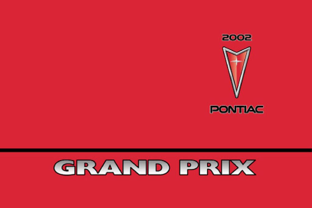 2002 Pontiac Grand Prix owners manual