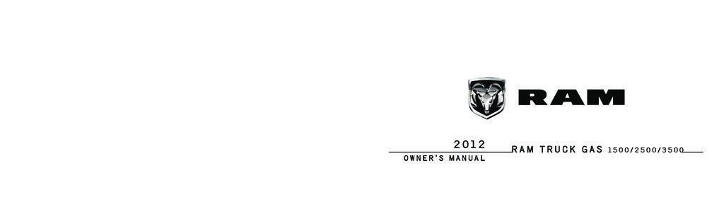 2012 RAM 1500 2500 3500 owners manual