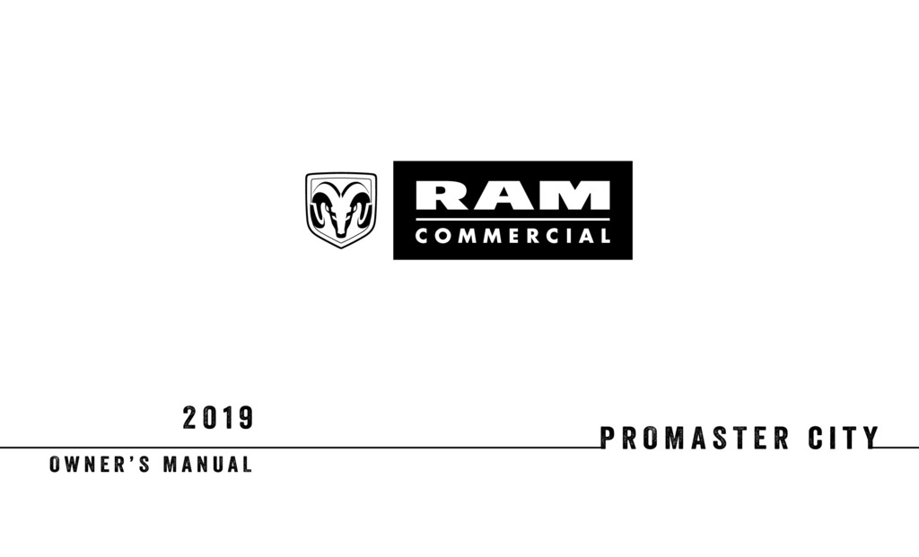 2019 RAM Promaster City owners manual