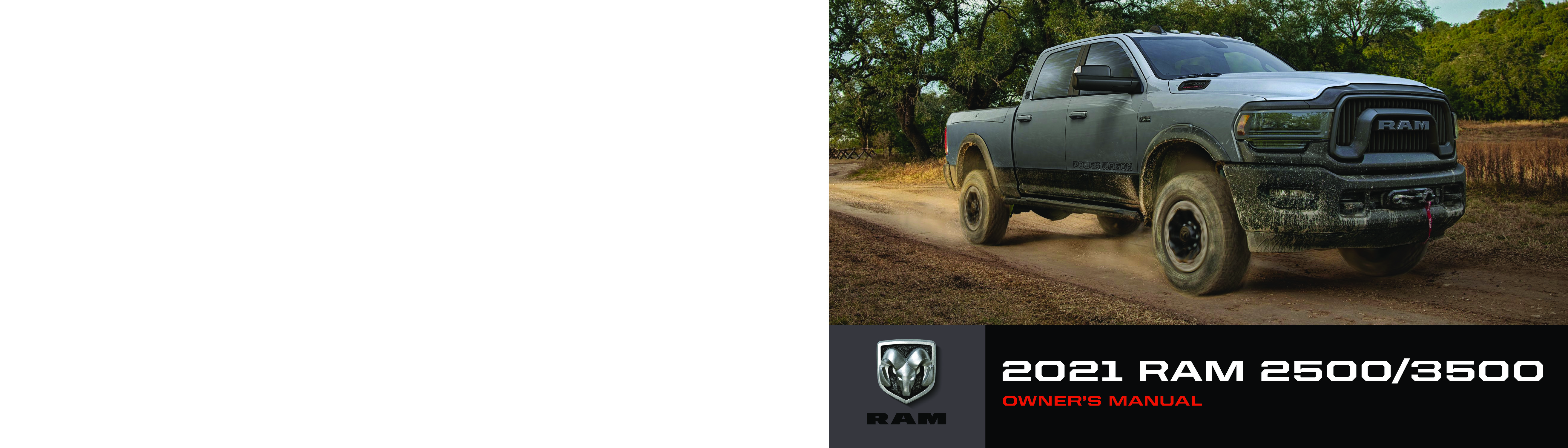 2021 RAM 2500 3500 owners manual