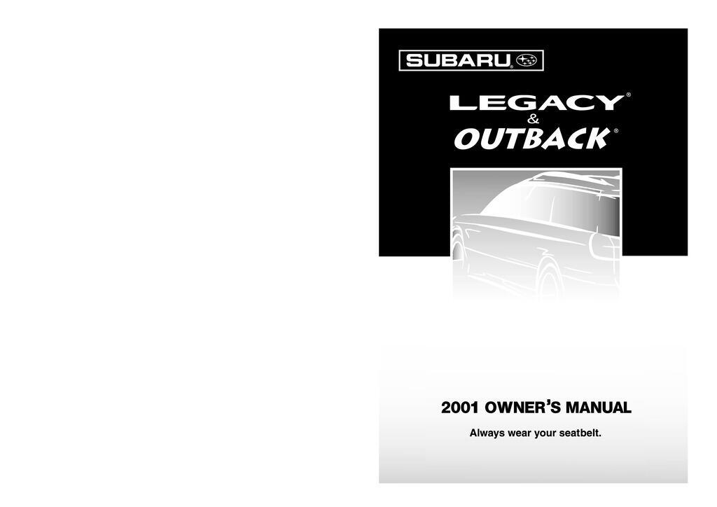 2001 Subaru Legacy owners manual