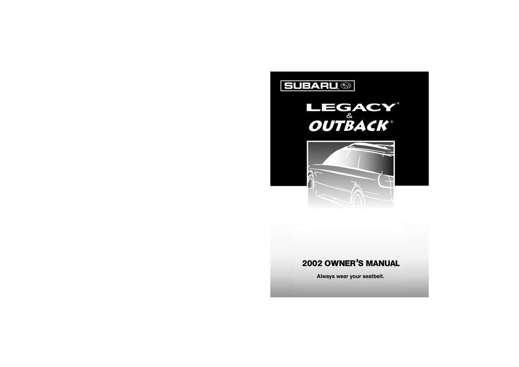 2002 Subaru Legacy owners manual