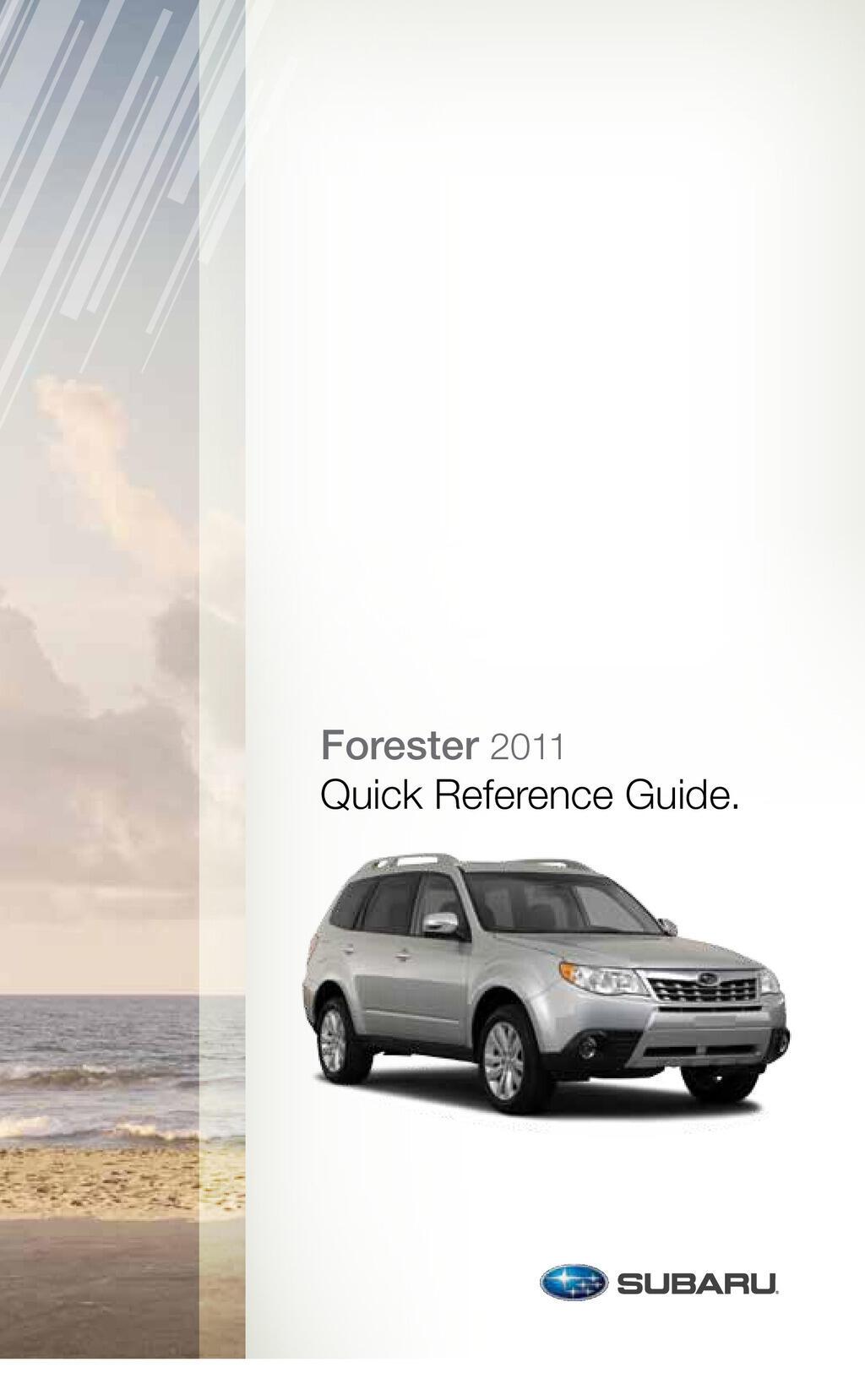 2011 Subaru Forester owners manual