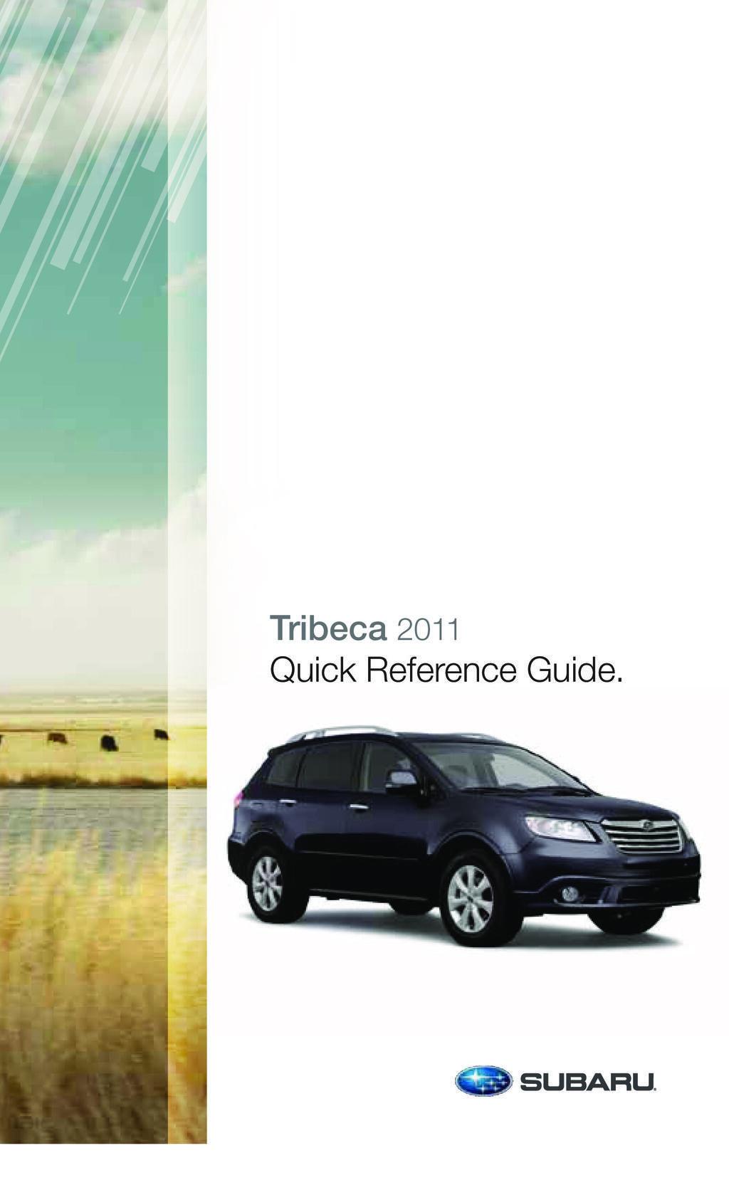 2011 Subaru Tribeca owners manual