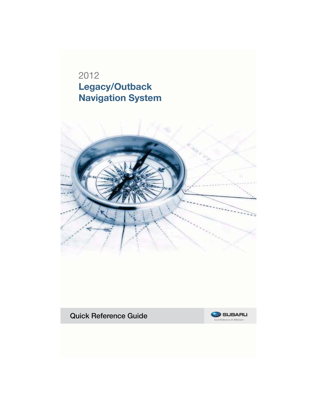 2012 Subaru Legacy And Outback Navigation System owners manual