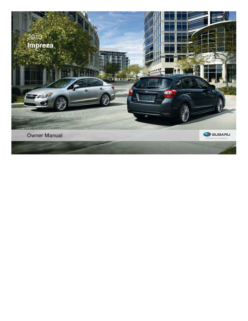 2013 Subaru Impreza owners manual