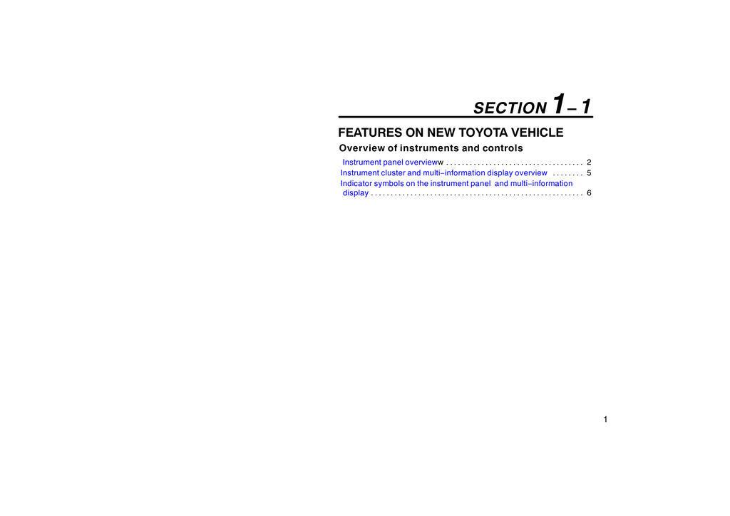 2005 Toyota Prius owners manual