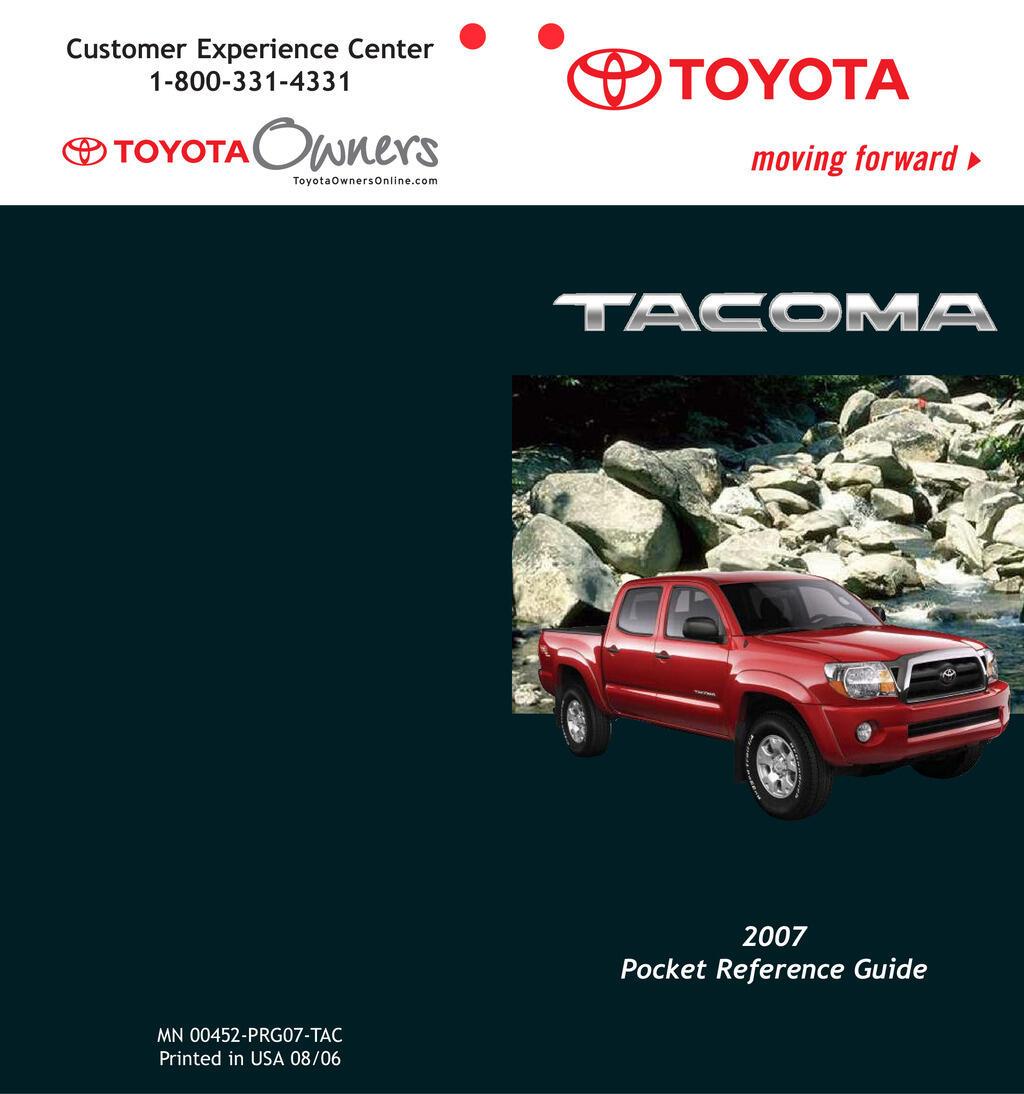2007 Toyota Tacoma owners manual
