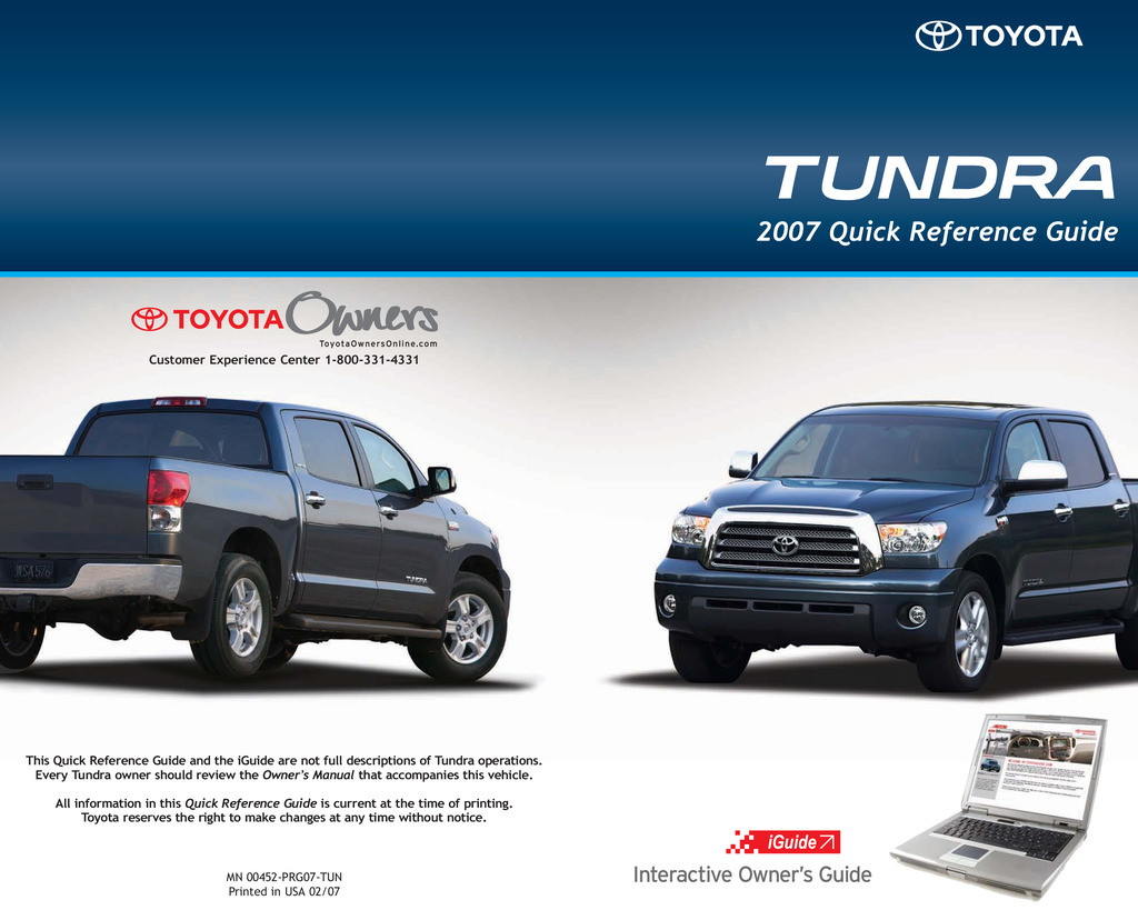 2007 Toyota Tundra owners manual
