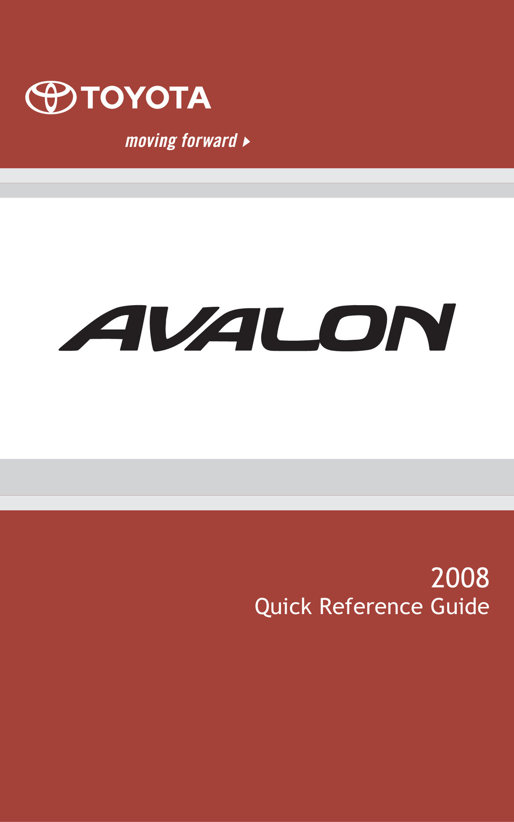 2008 Toyota Avalon owners manual