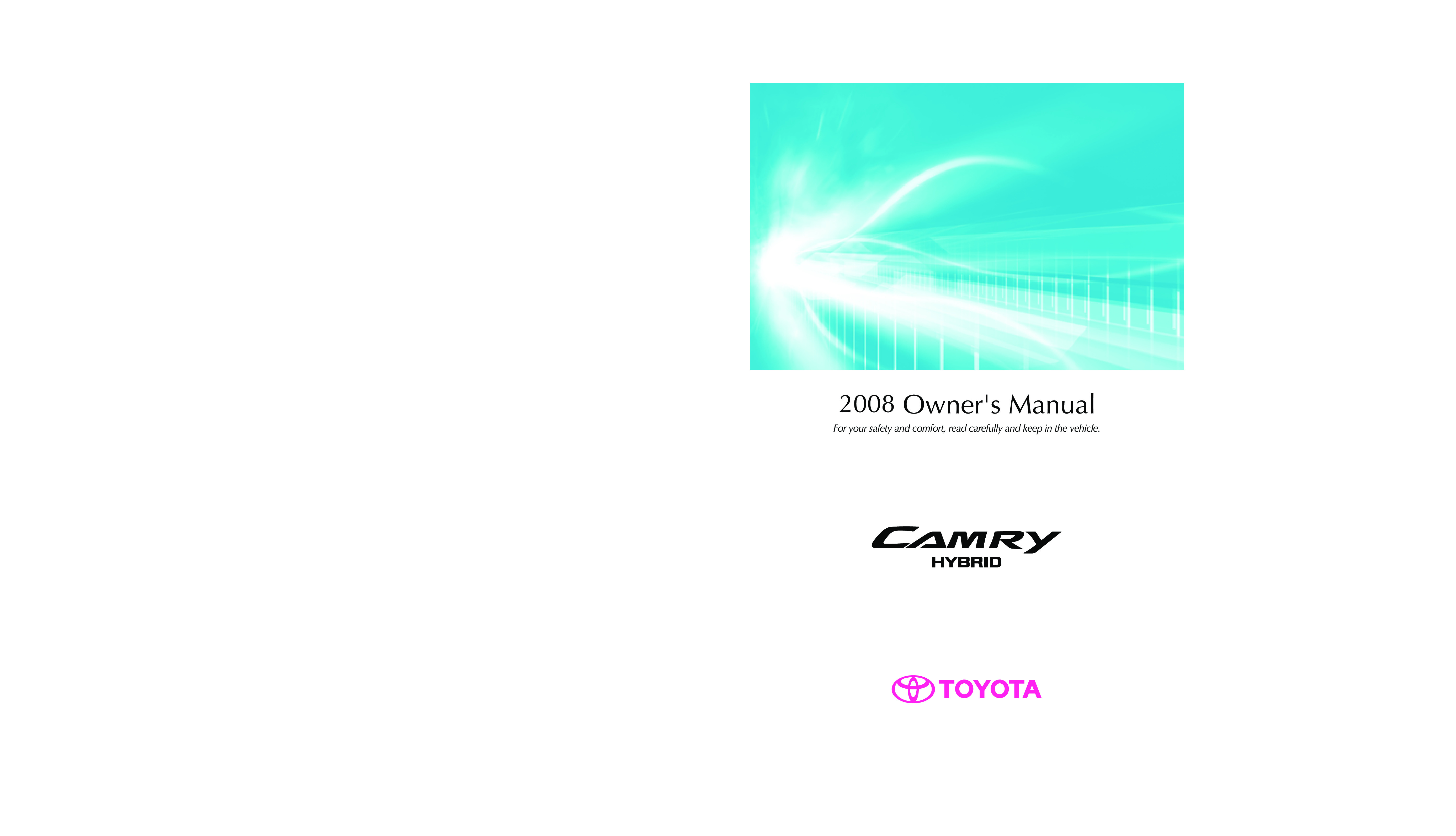 2008 Toyota Camry Hybrid owners manual