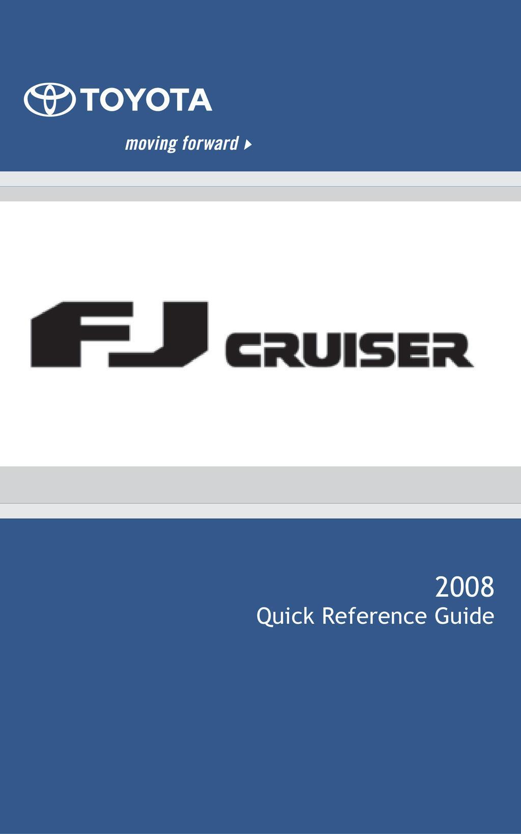 2008 Toyota Fj Cruiser owners manual