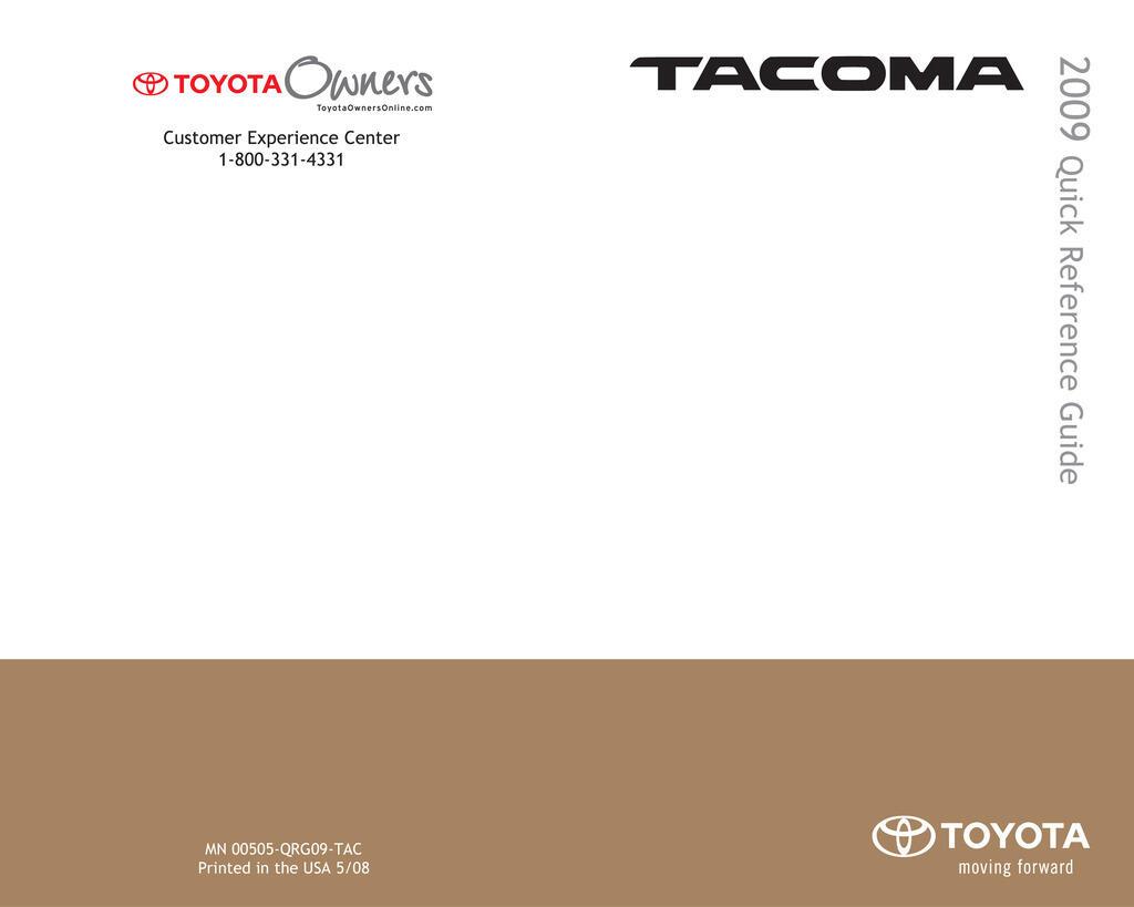 2009 Toyota Tacoma owners manual