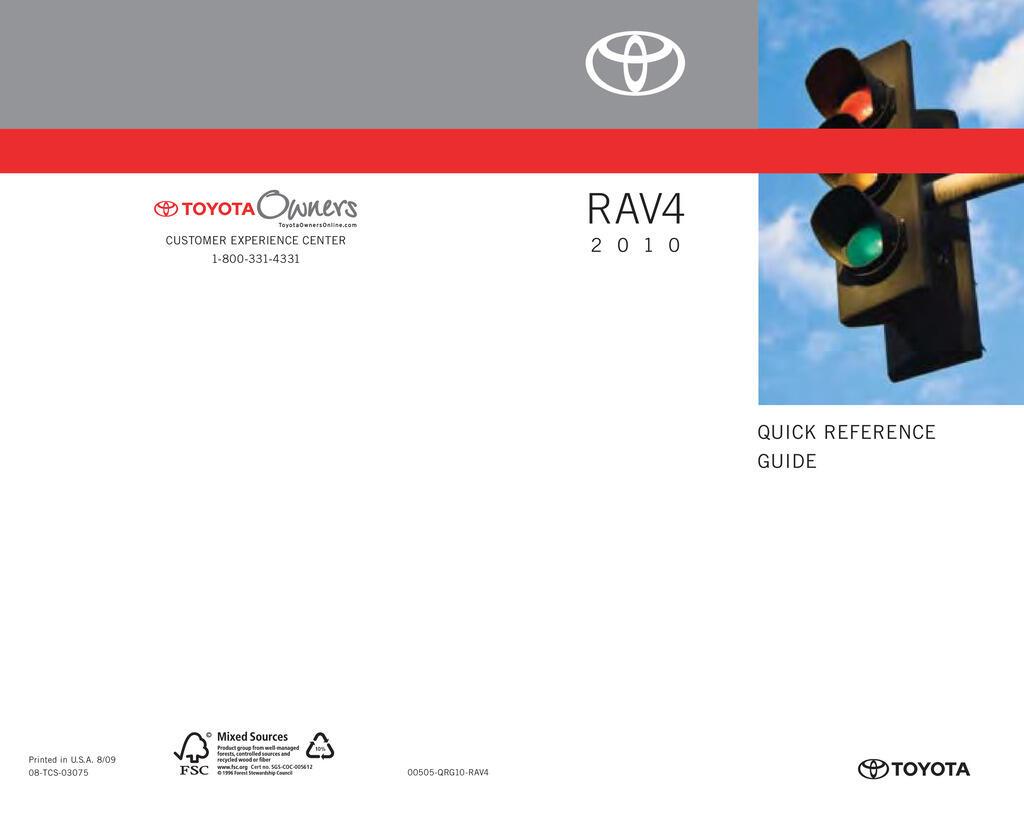 2010 Toyota Rav4 owners manual