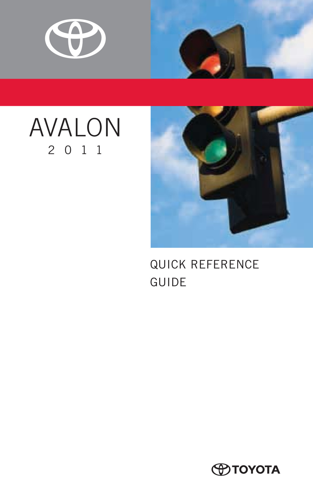 2011 Toyota Avalon owners manual