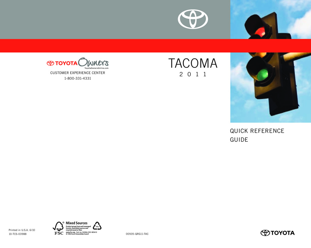 2011 Toyota Tacoma owners manual