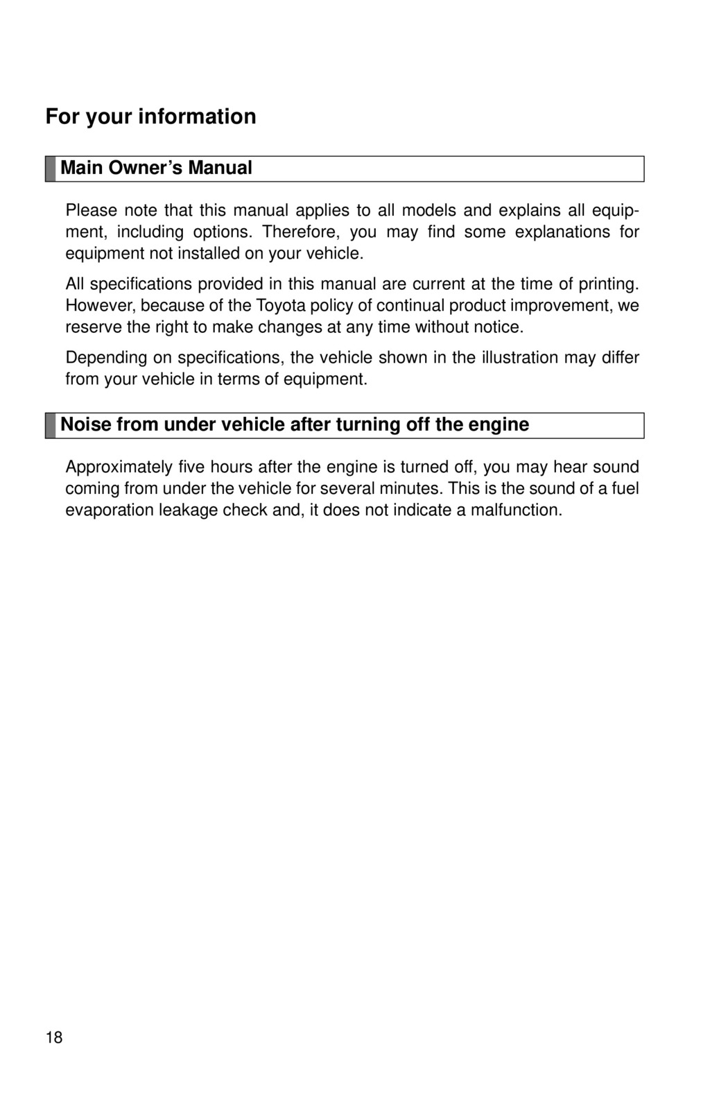 2012 Toyota Avalon owners manual