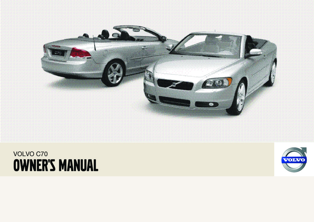 2009 Volvo C70 owners manual