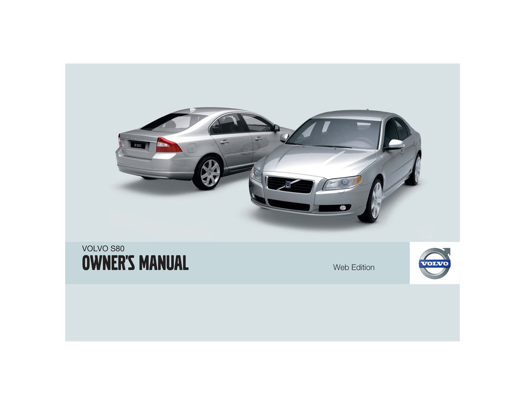 2009 Volvo S80 owners manual