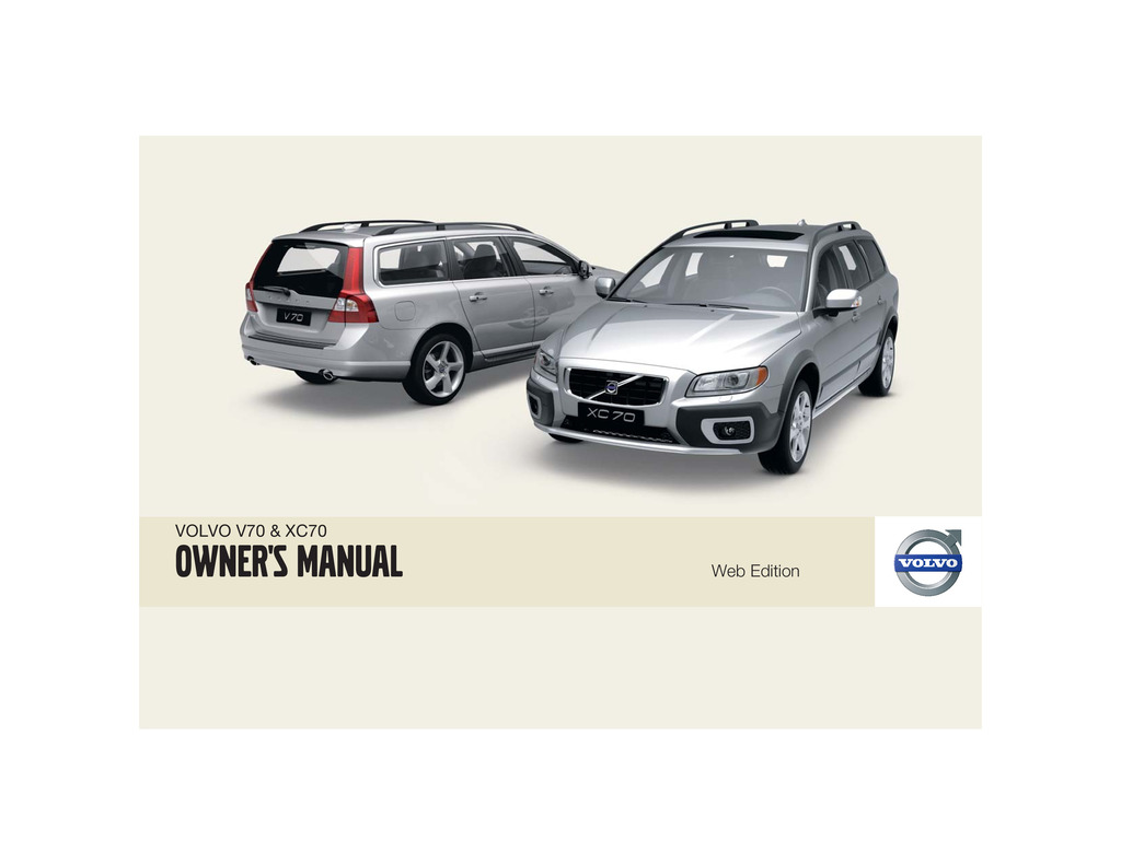 2009 Volvo V70 Xc70 owners manual