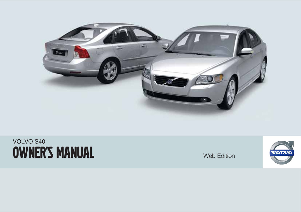 2010 Volvo S40 owners manual