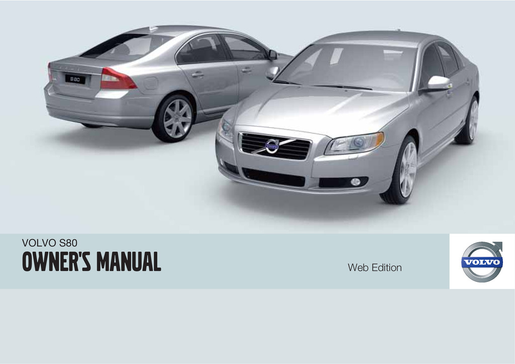 2010 Volvo S80 owners manual