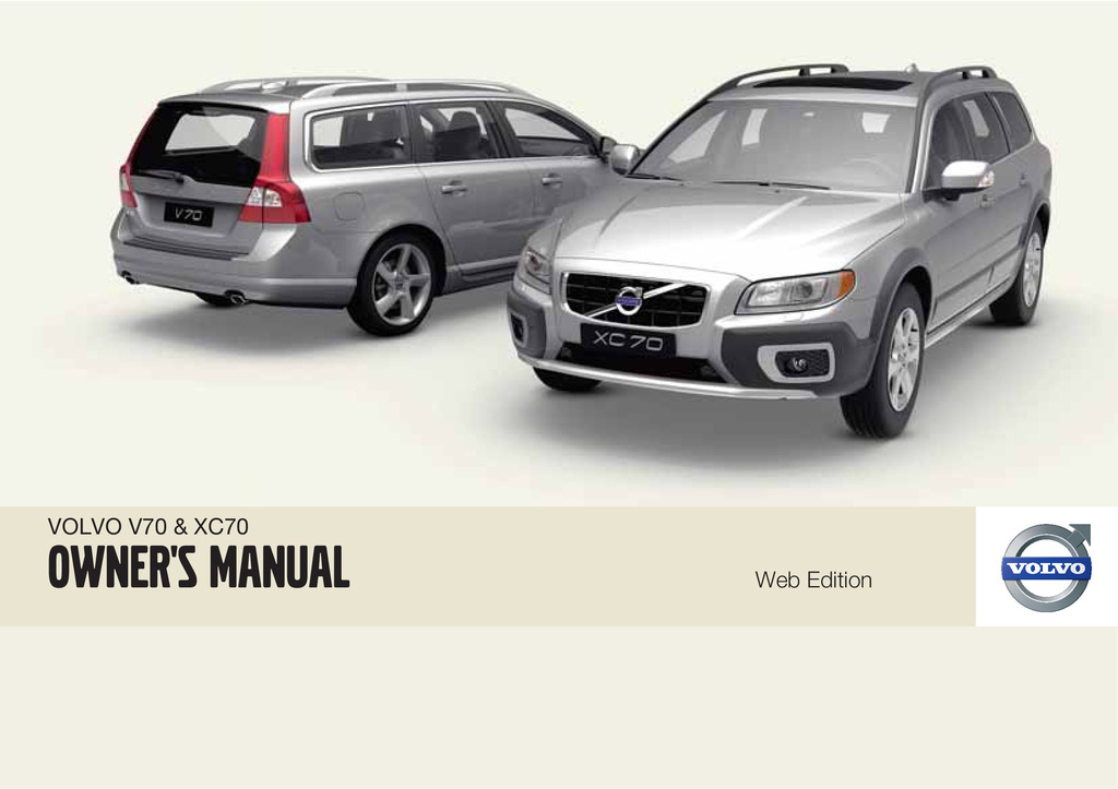 2010 Volvo V70 Xc70 owners manual