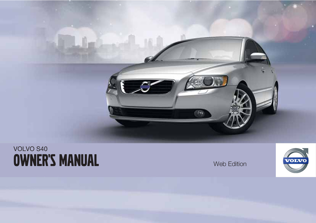 2011 Volvo S40 owners manual