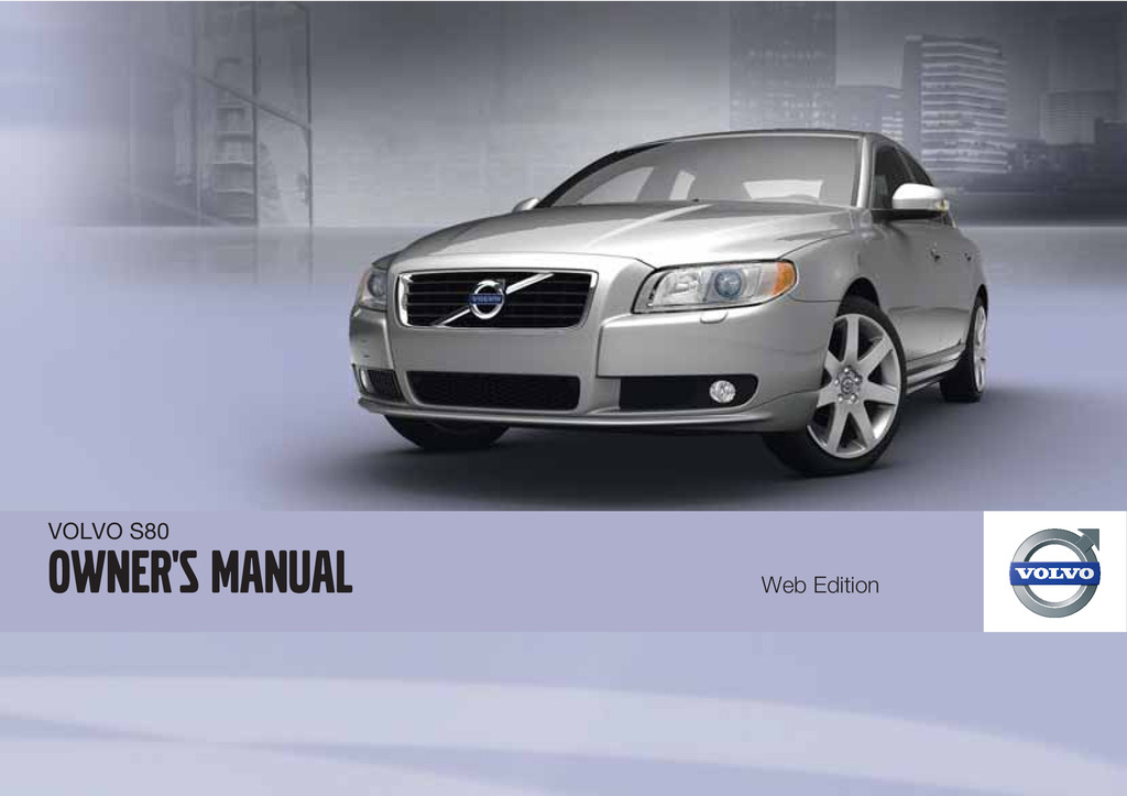 2011 Volvo S80 owners manual