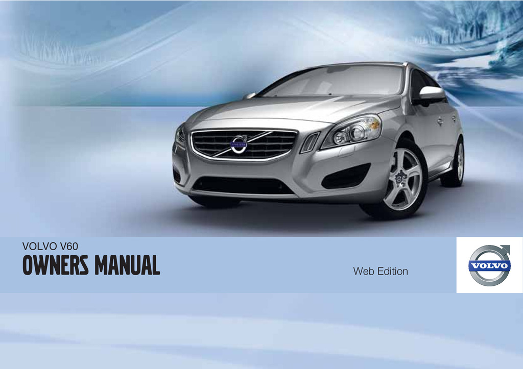 2011 Volvo V60 owners manual