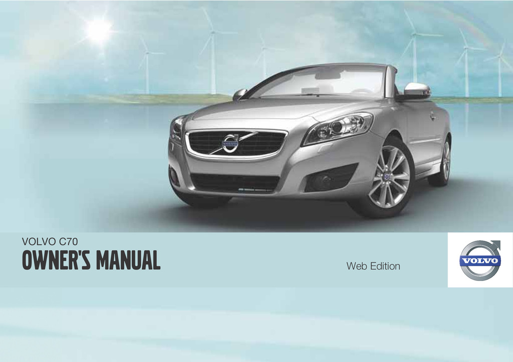 2012 Volvo C70 owners manual