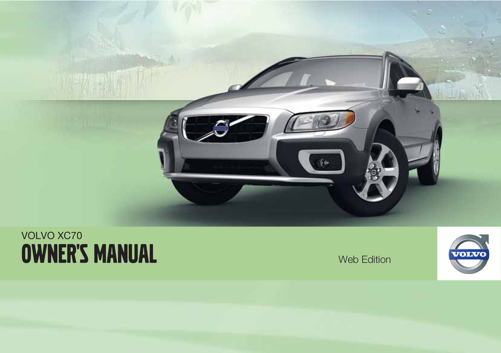2012 Volvo Xc70 owners manual