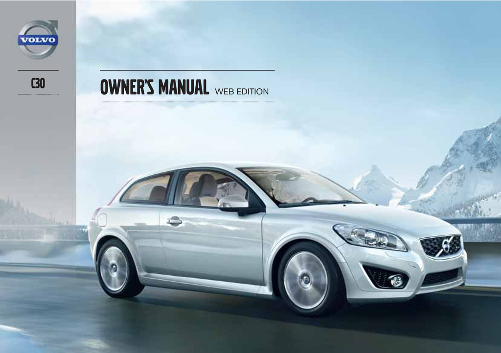 2013 Volvo C30 owners manual