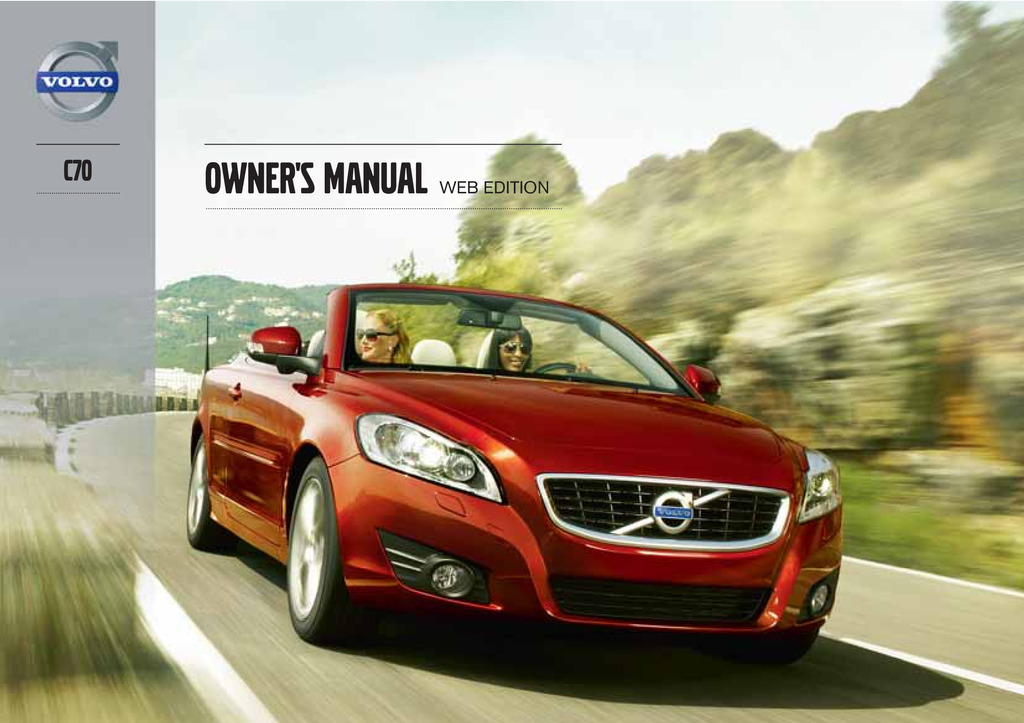 2013 Volvo C70 owners manual