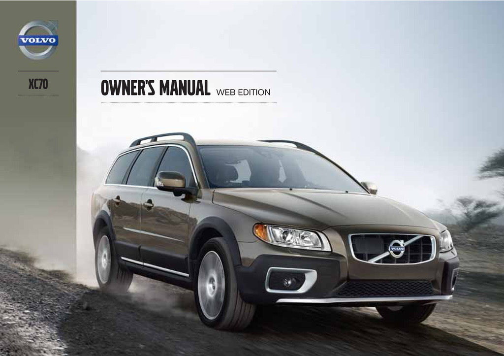2013 Volvo Xc70 owners manual