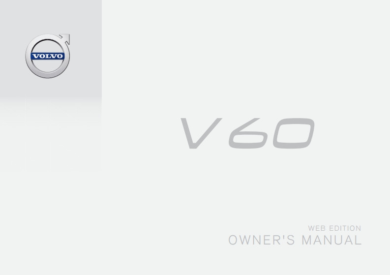 2016 Volvo V60 owners manual