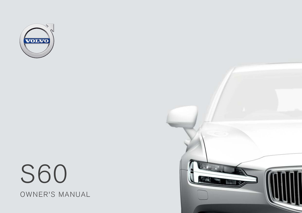 2019 Volvo S60 owners manual